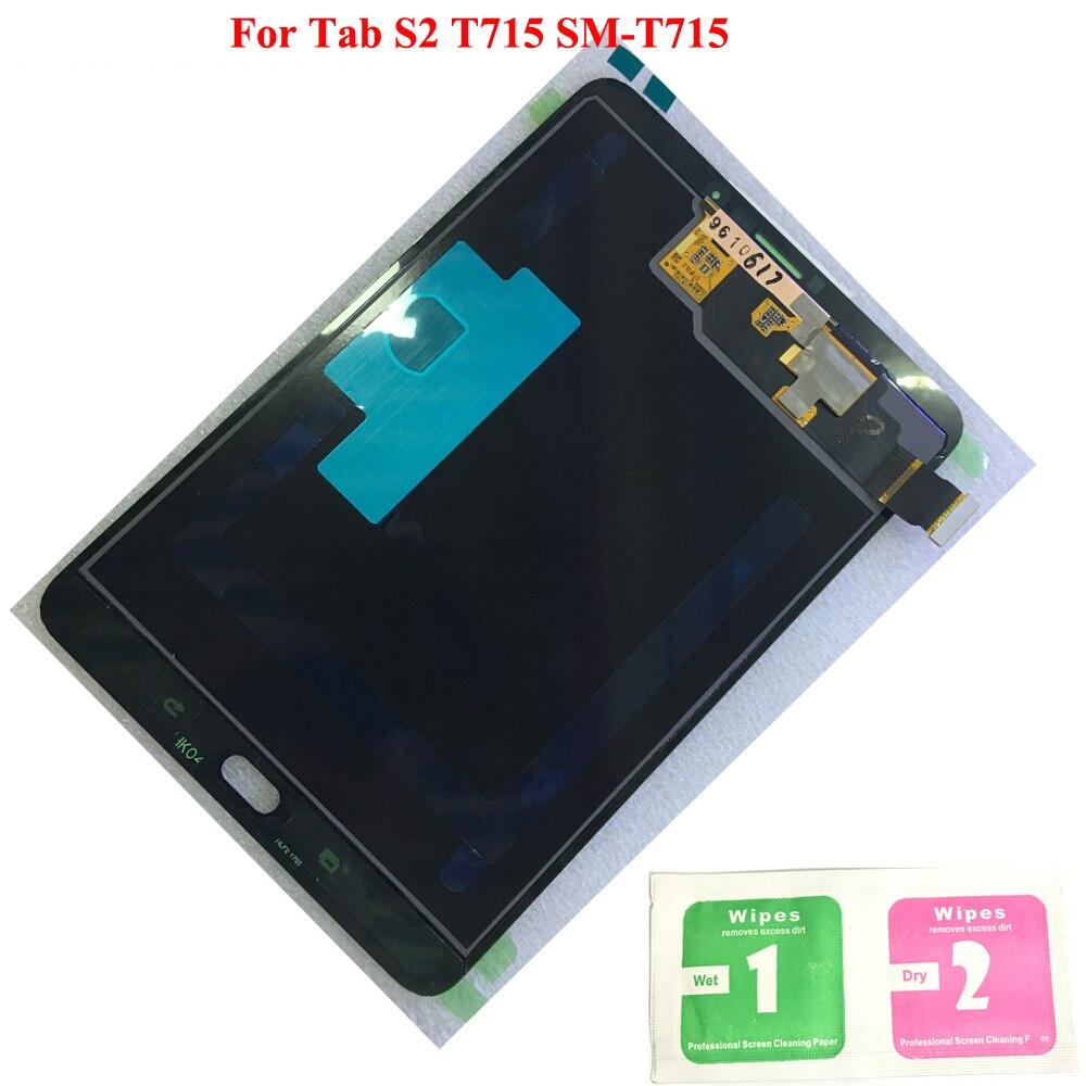 Originale Display LCD Touch Screen Digitizer Sensori Assemblea Pannello di Ricambio Per Samsung GALAXY Tab S2 T715 SM-T715