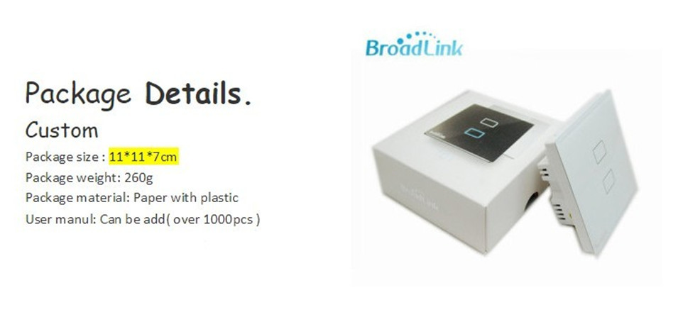 Broadlink EU UK TC2 Wireless 1 2 3 Gang Remote Control Wifi Wall Light Touch Switch 110-240V RF433 Broadlink Rm2 Rm Pro Domotica-4
