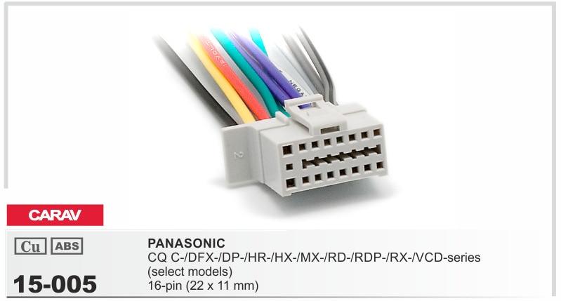 CARAV 15 005 Top Quality Car ISO Harness for Panasonic CQ C DFX DP HR HX popularne radio wiring adapter kupuj tanie radio wiring adapter,Wiring Harness Panasonic Car Stereo