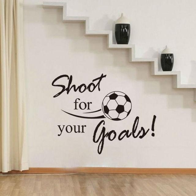 DSU Mode Schießen Für Ihre Ziele Fußball Wandaufkleber Für Kinderzimmer  Dekoration Aufkleber DIY Freies Verschiffen