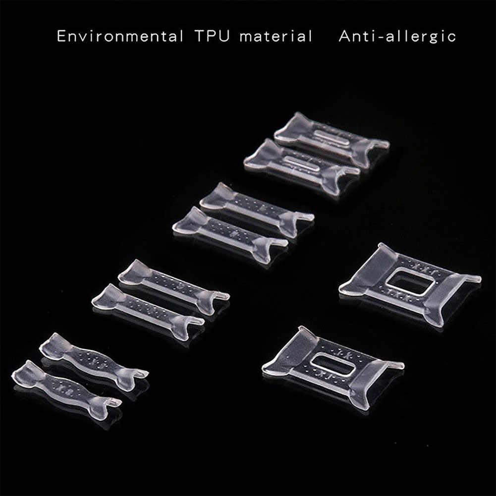 10 個詰め合わせミニポータブル透明ガード耐久性見えないプロ調節可能なのりリングサイズ減速