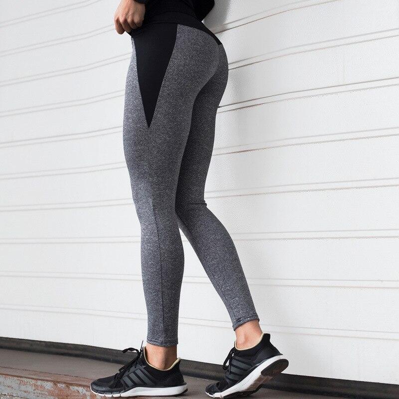 Image 2 - NORMOV Fashion Patchwork Women Leggings High Waist Elastic Push Up Spandex Ankle Length Legging Causal Leggings Fitness Female-in Leggings from Women's Clothing