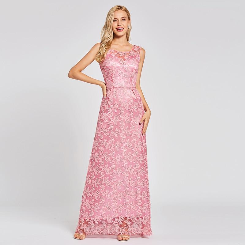 Кружевное Вечернее Платье tanpell Персиковое платье в пол без