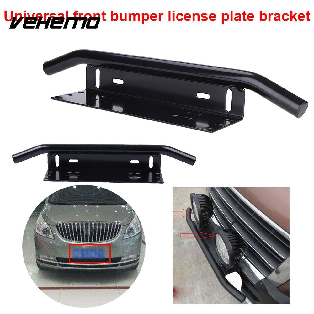 Vehemo Aluminum Alloy Black Mount Bracket Modified Parts License Plate Holder Front Bumer Bracket New Stand License Tag Frame