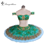 Free Shipping The NEW 2013 Ballet Tutu Ballet Stage Costumes Green Professional Ballet Tutu Classical Ballet