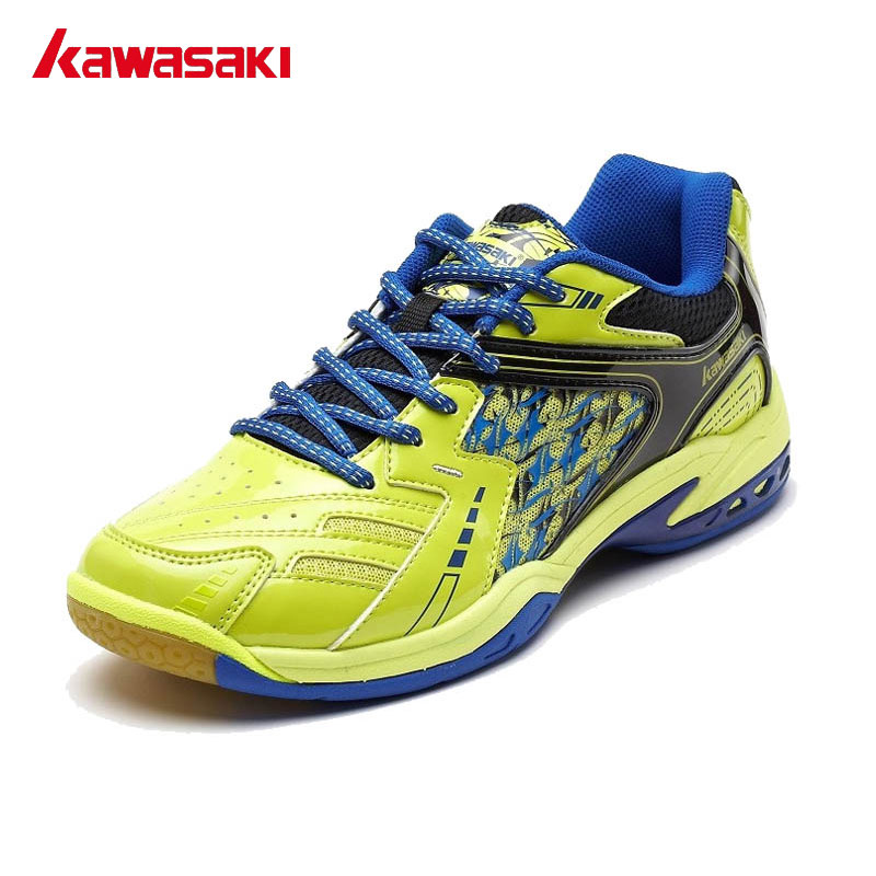 Kawasaki Brand Men's Professional Badminton Shoes Breathable Light Sneakers Anti-Slippery Lace-Up Training Sport Shoes K-336 100% original kawasaki badminton shoes men and women badminton training shoes whirlwind series k 515 516