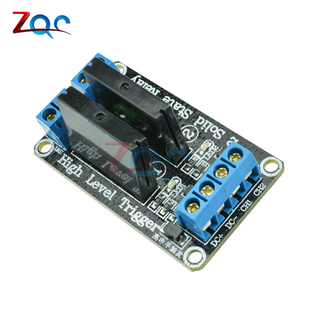 2 Kanal OMRON SSR Relais G3MB-202P 5V DC 2 Channel Solid-State Relay Board module High Level fuse for Arduino 5v 2 channel ir relay shield expansion board for arduino