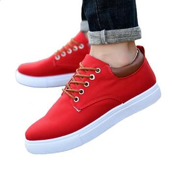 0d49d2d6 2019 nuevos zapatos de lona de alta calidad con cordones para Hombre Zapatos  casuales salvajes tendencia