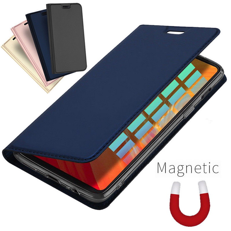 Fashion Magnetic Voltage Flip <font><b>Wallet</b></font> Phone <font><b>Case</b></font> For One Plus 6T <font><b>6</b></font> 5 5T PU Leather Card Holder Stand Cover For <font><b>oneplus</b></font> 6T <font><b>6</b></font> 7 Pro image