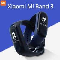 Original mi Band 3 Smart mi band3 Bracelet fréquence cardiaque Fitness montre 0.78 pouces OLED affichage 20 jours veille band2 mise à niveau