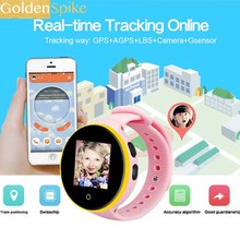 Kids Smart Watch S669 Children Wristwatch 1.22'' IPS Screen GPS Tracker Monitor Baby SOS Anti Lost Reminder Phone Watch(China)