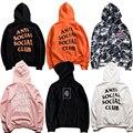 Camo anti social club nova moda dos homens hoodies marca de alta qualidade clothing hop 100% algodão harajuku tops camisola