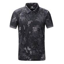 Wholesale 2017 Man Camouflage quick drying Men Cotton Army Tactical Combat Short T-Shirt Military Sport Camo Camp T Shirts Tees