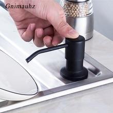 Черный диспенсер для жидкого мыла из нержавеющей стали, кухонный диспенсер для мыла, абс пластиковая бутылка, легко заполняется, кухонный аксессуар