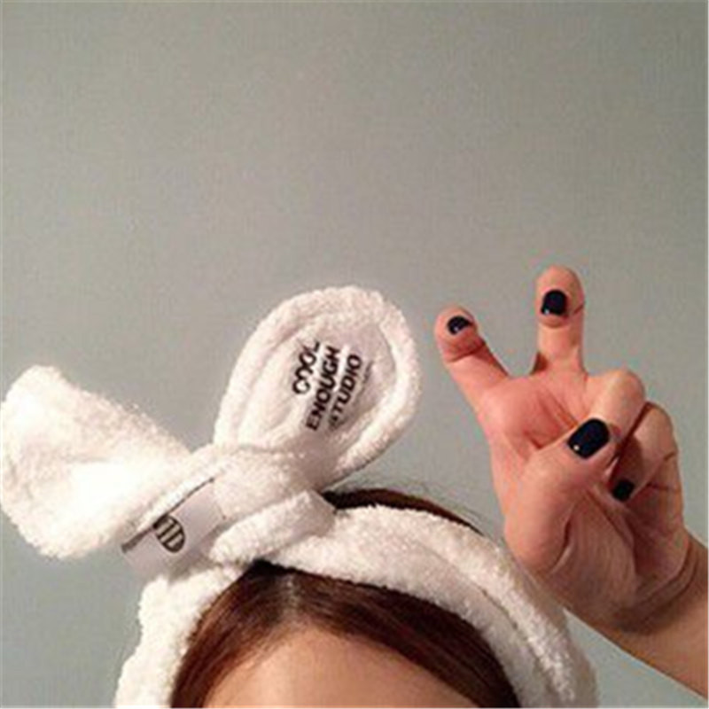 Letter coral fleece soft bow knot with ladies girls cute hairpin wash hair with a headband hair accessories headband in Women 39 s Hair Accessories from Apparel Accessories