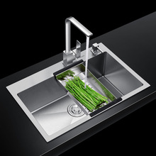цена на ITAS9938 304 stainless steel without faucet single bowl fregadero  brushed kitchen sink washing dish vegetable rectangle