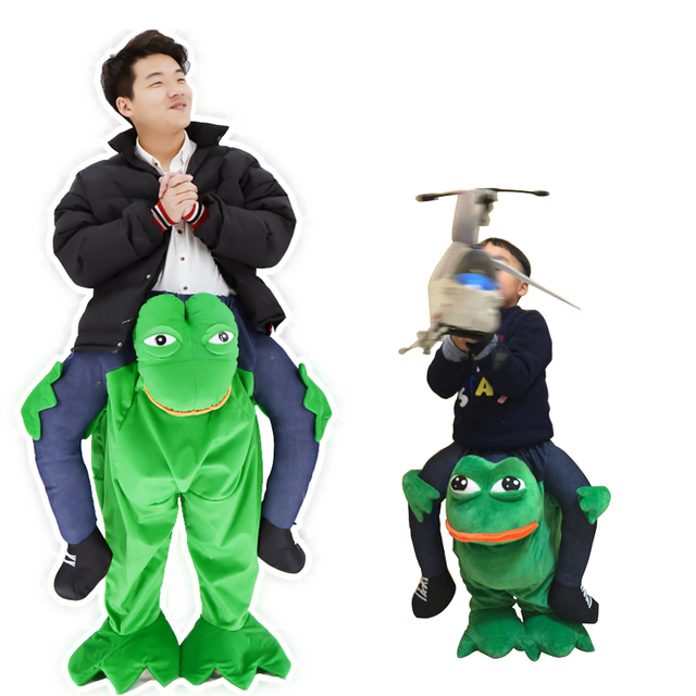 carryback ride on frog riding shoulder costume for kids adults animal pants mascot costume children halloween