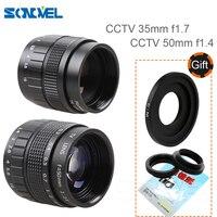 2 in1 Fujian Obiektyw CCTV Obiektyw 35mm f1.7/50mm f1.4 Obiektyw Zamontować Pierścień Zestaw Monitor obiektywy nikon 1 AW1 J4 S2 V3 V2 V1 J1 J2 J3