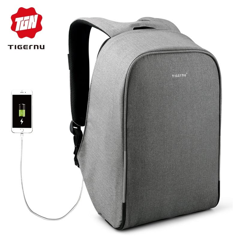 Tigernu Multifunktions Wasserdichte Anti-dieb USB 15.6 zoll Laptop Rucksack Frauen Schule Rucksack Männer Reisen Bagpack für Männliche