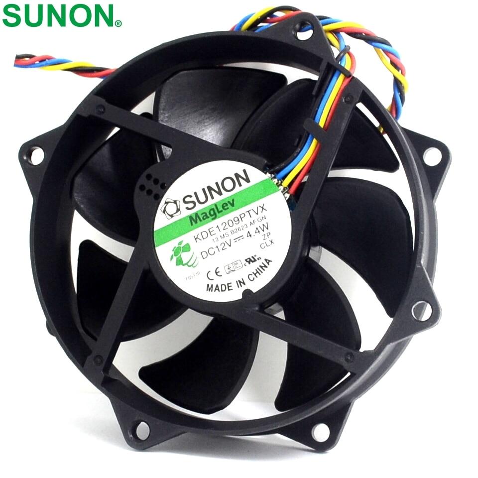 2pcs Maglev Round CPU Case Cooling Fan KDE1209PTVX 4.4W 4 Pin DC 12V Tested