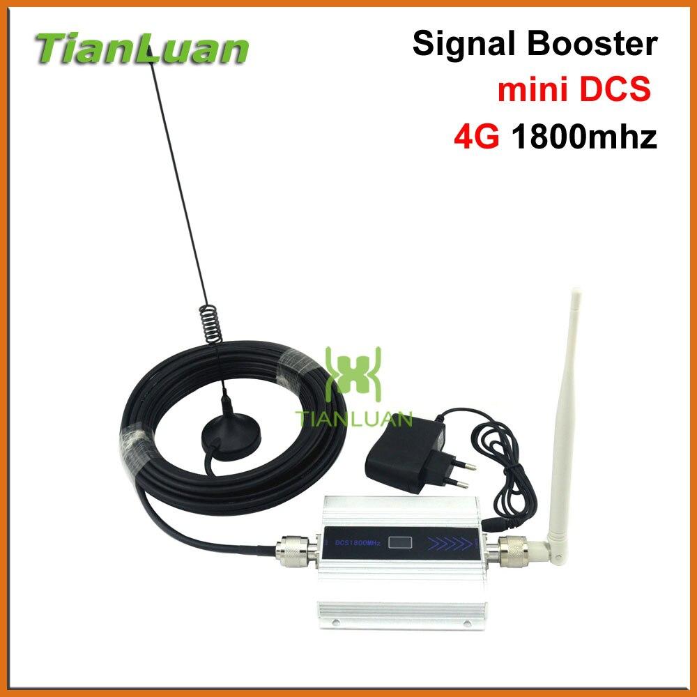 TianLuan 2G DCS 1800 MHz Mobile Phone Signal Booster 4G 1800 MHz Repetidor de Sinal Amplificador Telefone Celular com Chicote/Otário antena