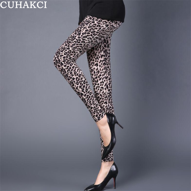 CUHAKCI High Waist Pants 2019 Sexy Legging Leopard Leggings Women Sportswear Fitness Clothing Activewear Pants Printing Leggins
