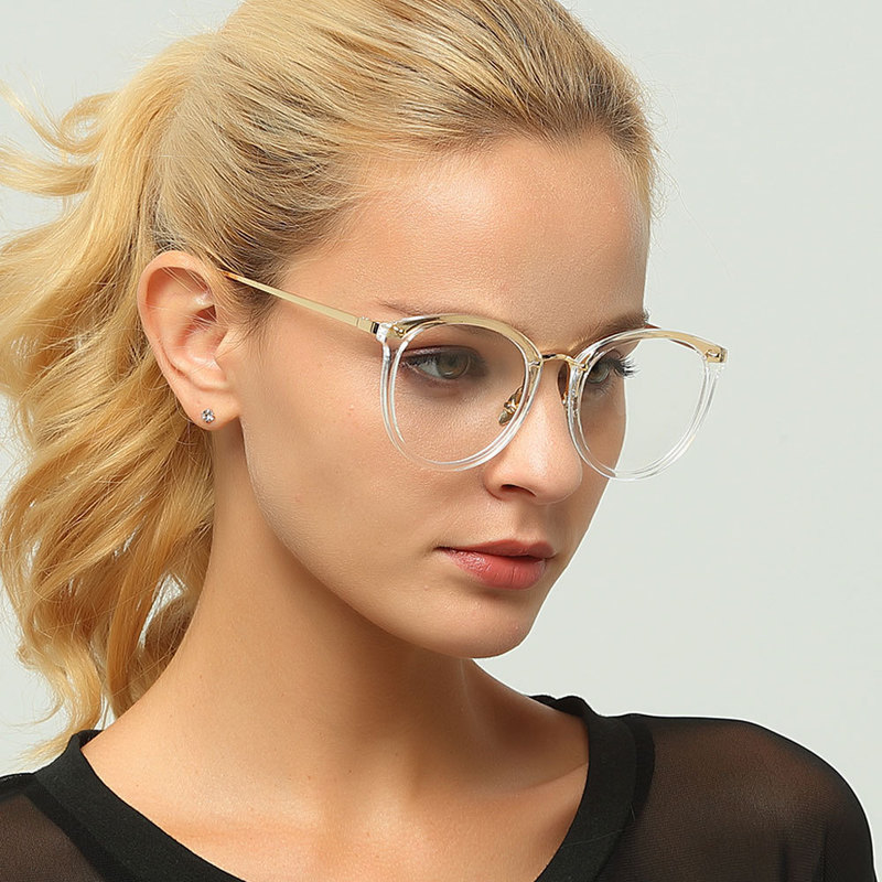 Transparent Glasses Fashion Glasses Optical Frames for Female Frames Transparent Lens Optical Eyes D156 De Grau in Men 39 s Eyewear Frames from Apparel Accessories
