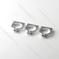 HCC006 free shipping movable 16mm aluminum clamp/clip Carbon Fiber Tube Clamp for RC Hobby silver 20pcs/bag