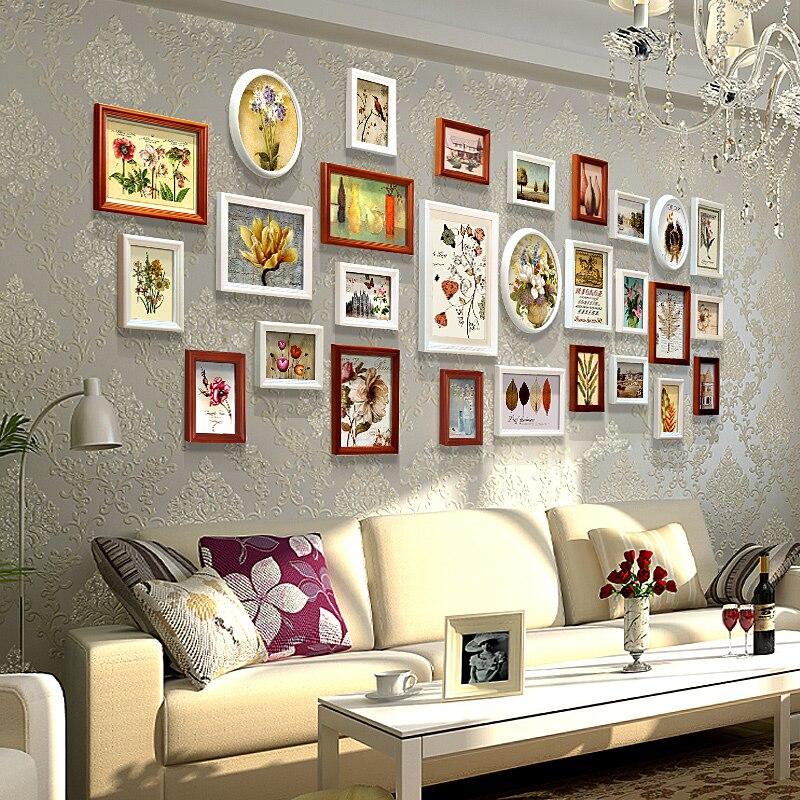 28 шт./компл. рамки для фотографий деревянные рамки для фото деревянные рамы для стены Marcos Para fotos украшения дома Комбинации