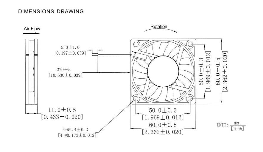 10 шт. Gdstime DC 5 В 60 мм x 60 мм x 10 мм 6010 Бесщеточный вентилятор охлаждения