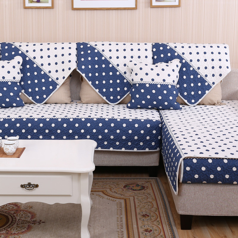 Blue White Cover On Sofa Modern Sofa Covers Antislip Design Sectional Sofa  Towels Blanket On Couch Settee Cover Canape Cushions In Sofa Cover From  Home ...