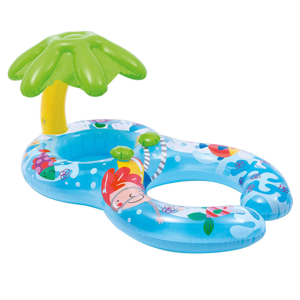 Cartoon Float Swimming Pool Baby Swimming Ring Toy Kids Baby Float Seat Circle Double Inflatable Floats Bathtub Pool Toy
