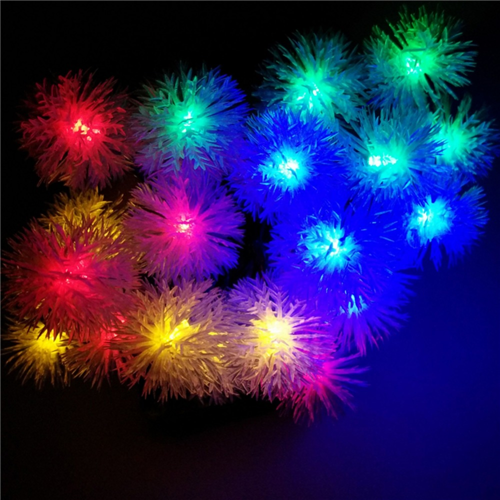 2016 Snowball Multicolor LED String Snow Flakes Lights Battery Party Xmas Wedding Birthday Party Decoration Lightings Casamento (5)