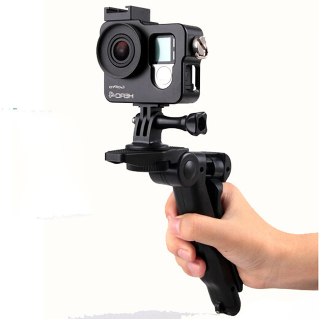 4 in 1GoPro accessories Mini Camera Tripod Stand Holder  Beauty Leg Floder for Canon Sony Nikon DSLR camera / gopro/Cell phone