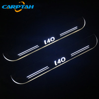CARPTAH Trim Pedal Car Exterior Parts LED Door Sill Scuff Plate Pathway Dynamic Streamer light For Hyundai I40 2014 2017 2018