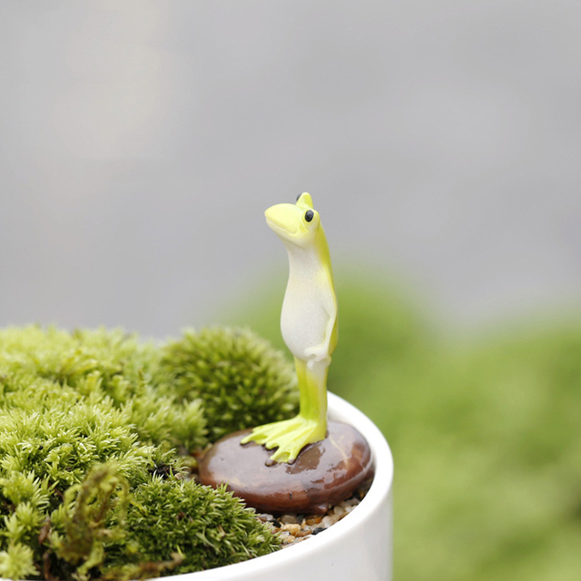 Cute Animal Frog Home Micro Fairy Garden Gnomes Figurines Kawaii Miniatures/terrarium Dollhouse Decor Ornaments DIY Accessories 1