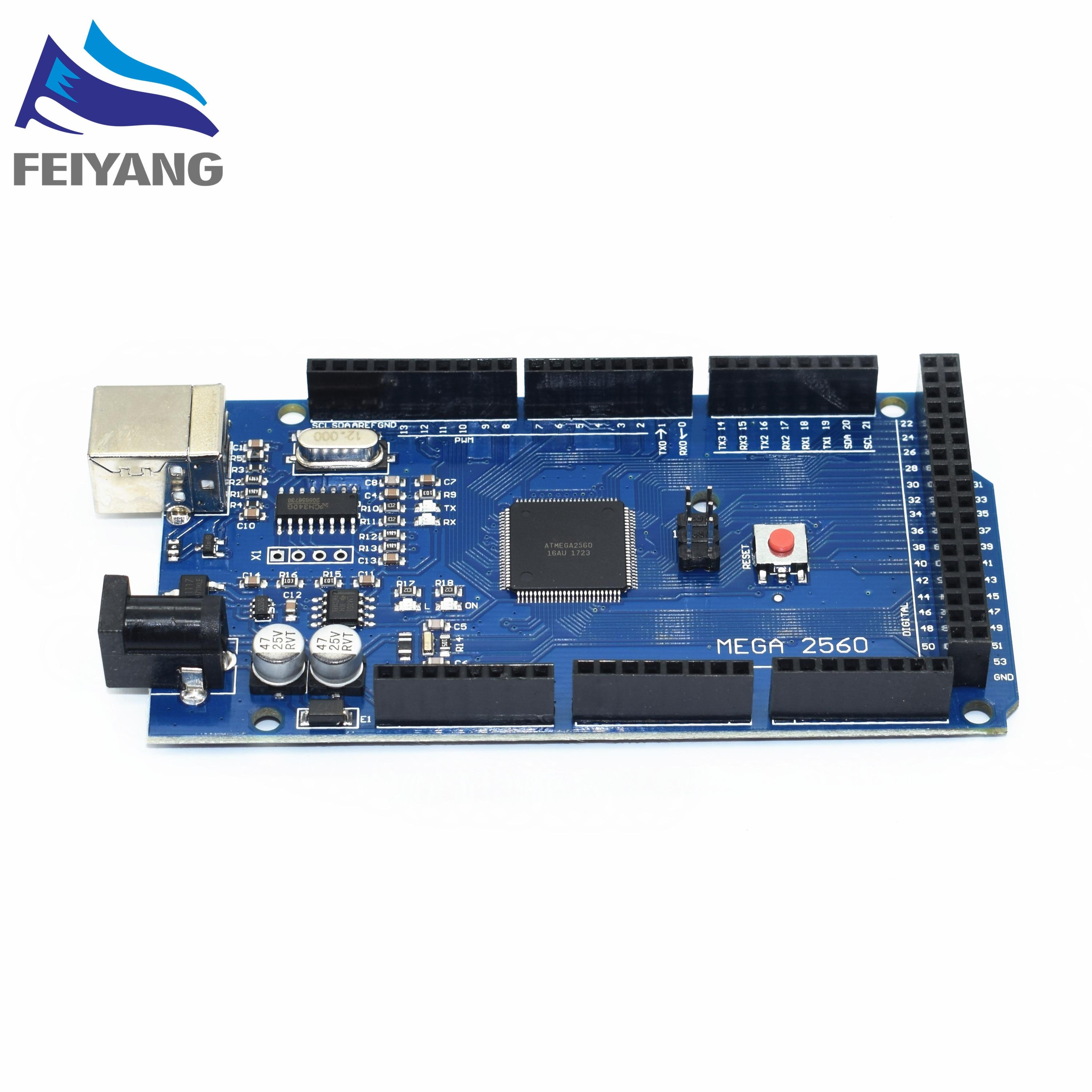 10PCS SAMIORE ROBOT MEGA2560 MEGA 2560 R3 ATmega2560 16AU CH340G AVR USB board with without USB