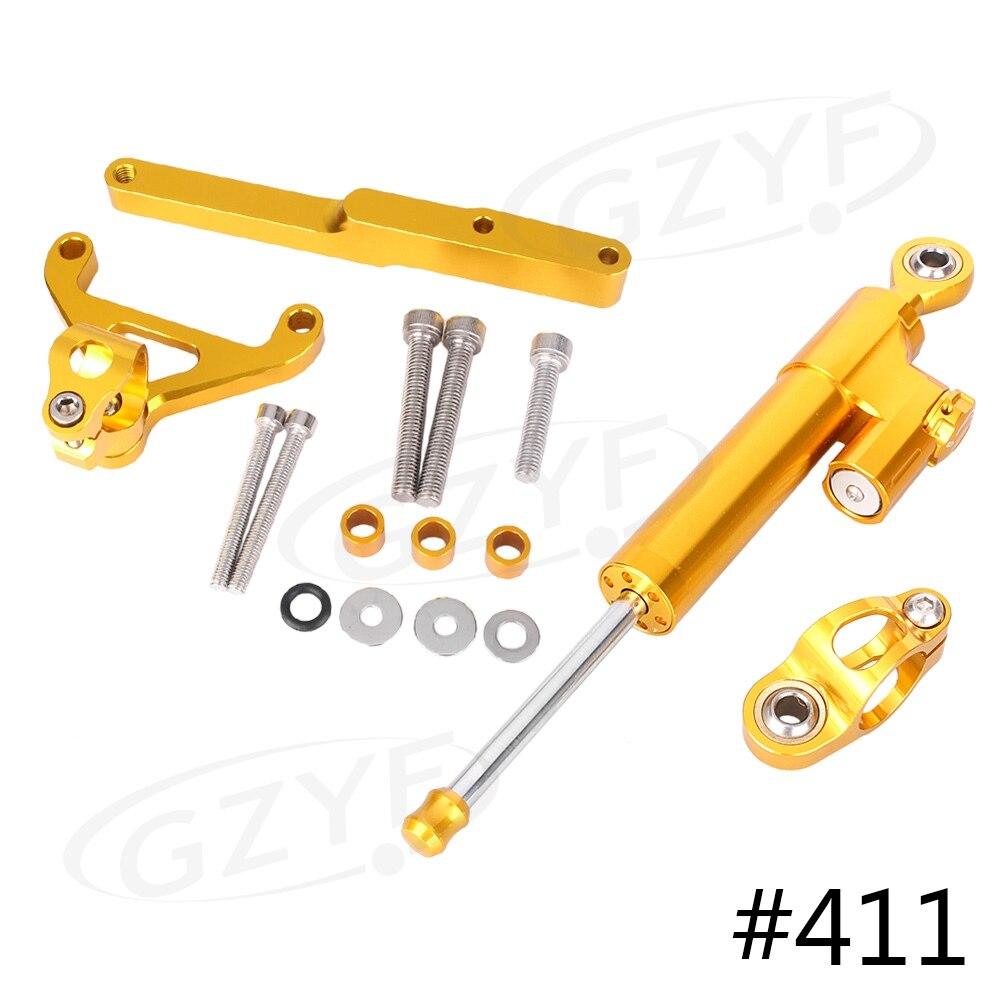 CNC Steering Damper Stabilizer w/ Bracket Mounting Kit Satety Control for Honda CB1000R 2008 2009 2010 2011 2012 2013 2014-2016