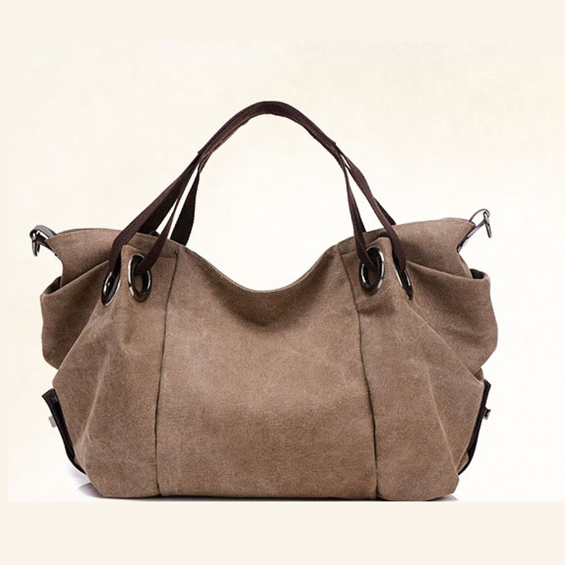 New Fashion Canvas Bag Women Handbag Luxury Handbags Female Bags Designer Solid Lady Top-Handle Bag Muti-Function Crossbody Bag