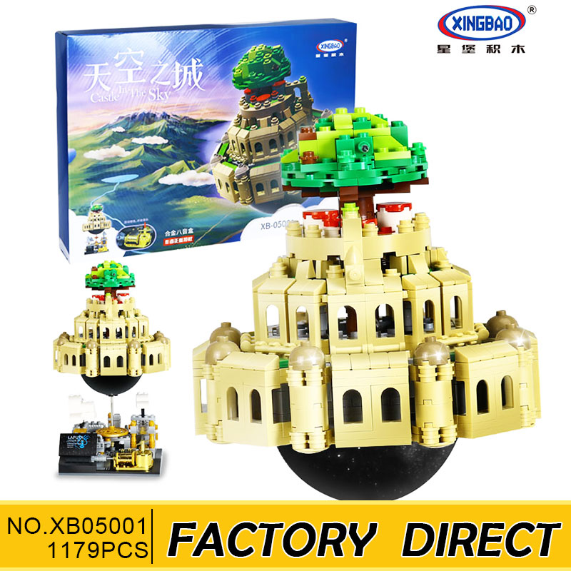 Здесь можно купить  XingBao 05001 1179Pcs Genuine Creative MOC Series The City in The Sky Set Children Educational Building Blocks Bricks Model Gift  Игрушки и Хобби