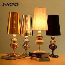 Современные fashionfabric настольная лампа decoraction E27 110 В/220 В ткань Настольные лампы для Спальня/Гостиная Освещение