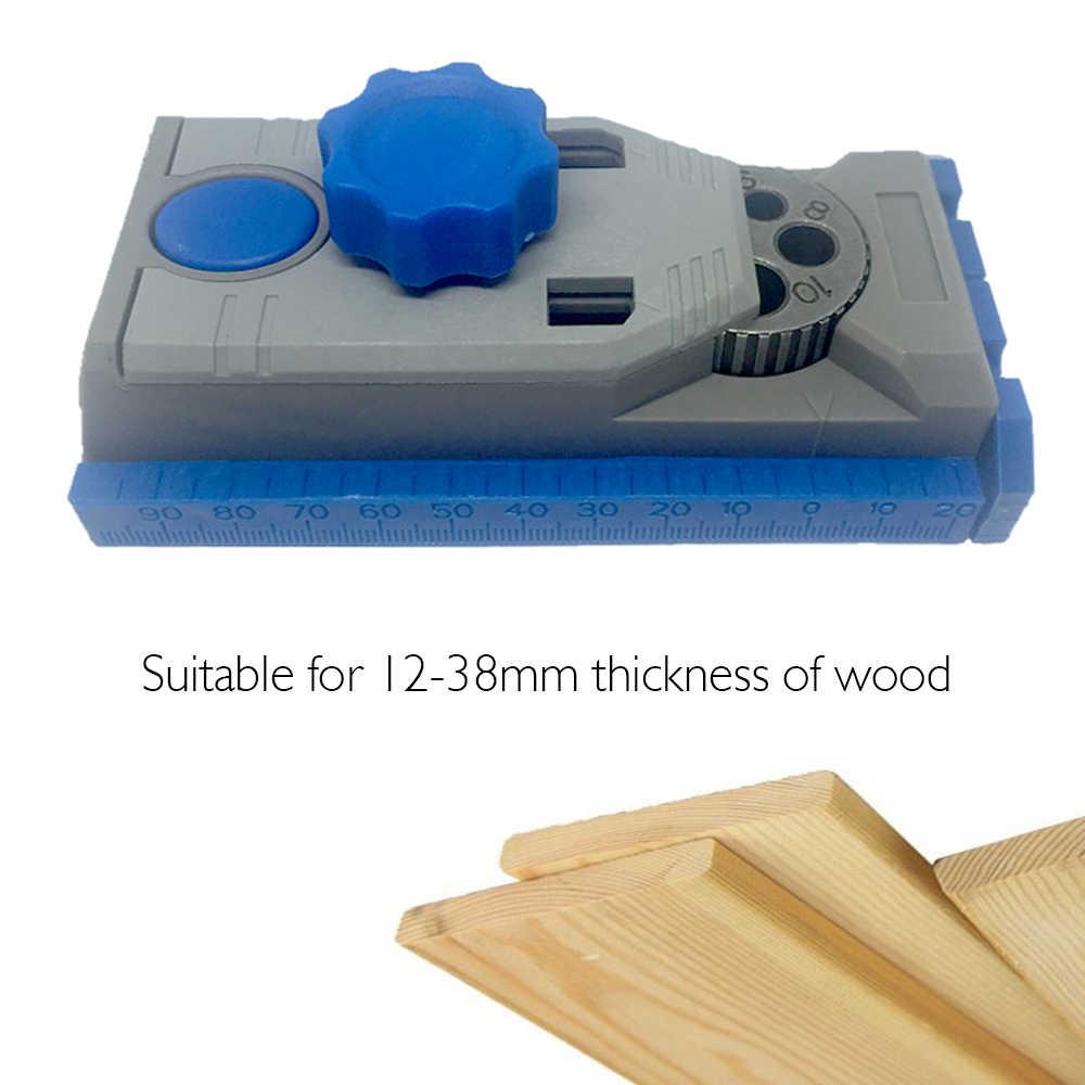 כיס חור לנענע מערכת 9.5mm מקדח מדריך שרוול עבור Kreg טייס עץ קידוח Doweling Saw & עבודת DIY כלי סט