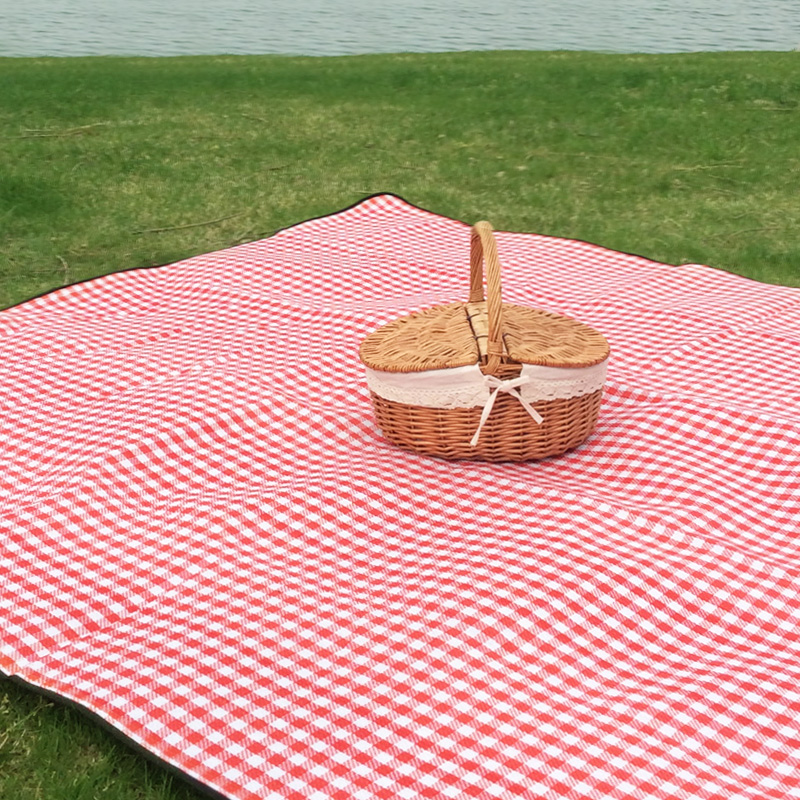 Red And White Checkered Rug: New Camping Mat Outdoor Mat Red And White Case Machine