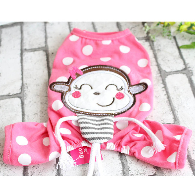 Personalised Polka Dots Jumpsuit Puppy Pet Dog Pajamas Super Soft Cotton Overalls Apparel Summer Pullover Clothes For Dogs XS-XL