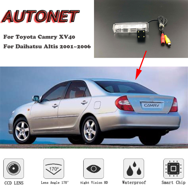 AUTONET HD Nachtzicht Backup Achteruitrijcamera Voor Toyota Camry XV30 Voor Daihatsu Altis 2001 ~ 2006 CCD/ kentekenplaat Camera-in Camera voor een voertuig van Auto´s & Motoren op