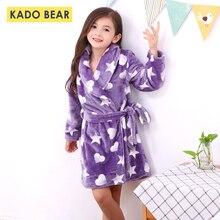 Фланелевый Халат для маленьких девочек; теплая одежда для сна; зимние пижамы для маленьких мальчиков; детские пижамы; банные халаты; мягкие детские пижамы из кораллового флиса