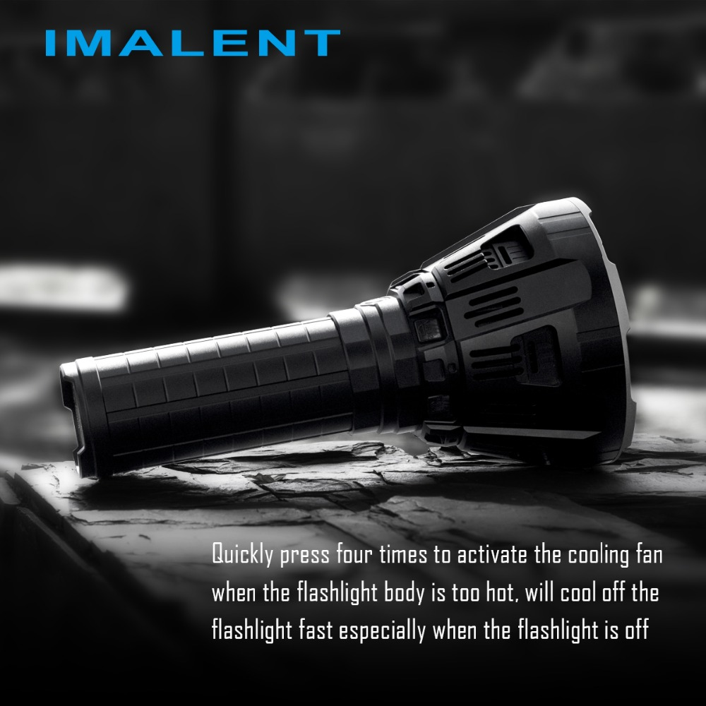 IMALENT MS12 12xCREE XHP70 53000 Lumens High Performance Outdoor Search Light LED Flashlight Battery Pack Build