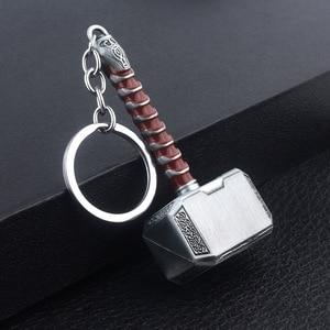 Image 2 - Marvel Avengers 4 Endgame Thor ค้อน Keychain แหวนของเล่นสำหรับผู้ใหญ่ 2020 ใหม่ Avengers Super HERO Thor HAMMER party Favor