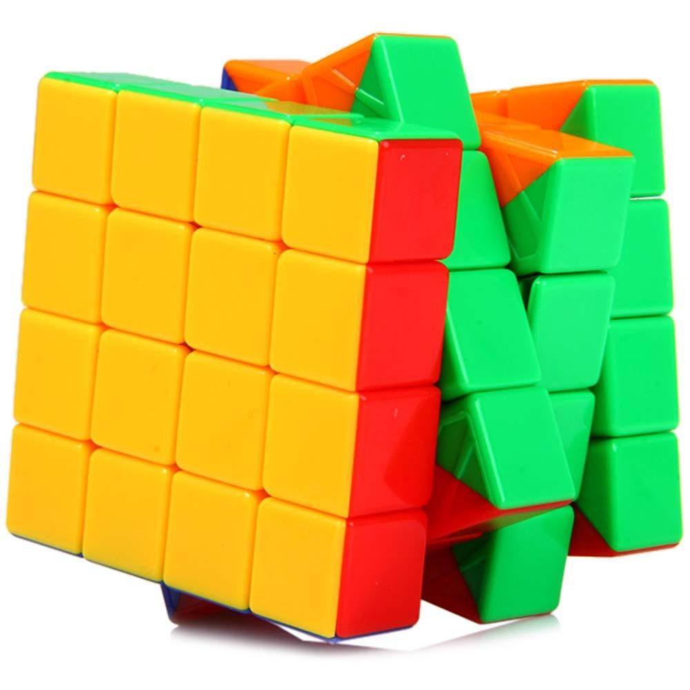 Professional Speed Fantasy 4x4x4 Magic Cube Keyring Puzzle font b Keychain b font Speed Toy Three