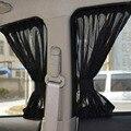 70S 70cmx37cm Car Window Sunshade Curtain 2pcs Automotive Protective Visor Car Window Mesh Curtain Black
